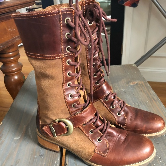 71b5e840d9a7f Timberland Shoes | Womens Lace Up Leather Zip Boots | Poshmark
